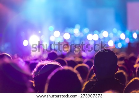 People at the concert Royalty-Free Stock Photo #273907373