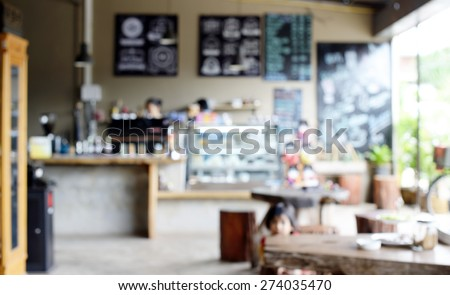 Blur coffee shop background  Royalty-Free Stock Photo #274035470