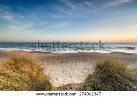 The beach at Hengistbury Head near christchurch in Dorset #274062347