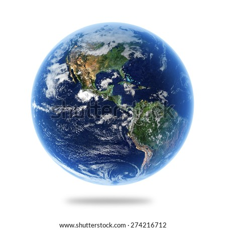 Isolated Earth with Depth of Field Effect - Elements of this Image Furnished by NASA