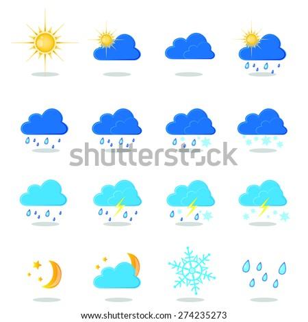 Weather Report Symbols Icon #274235273