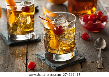 Homemade Old Fashioned Cocktail Royalty-Free Stock Photo #274311413