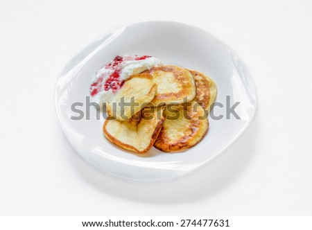 Fritters on the plate #274477631