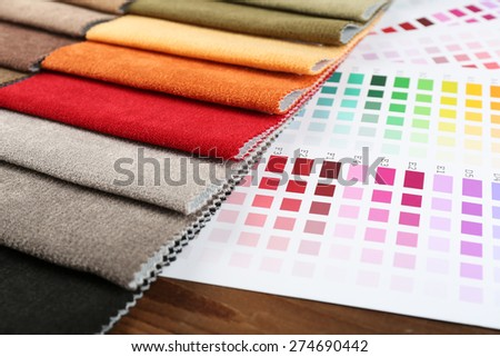 Scraps of colored tissue with palette close up #274690442