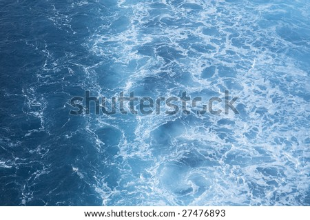 Swirling pattern from large ships propellers in the ocean #27476893