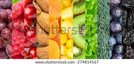 Healthy food background Royalty-Free Stock Photo #274814567