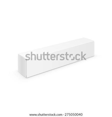 Vector White Blank Packaging Package Pack Toothpaste Box Design Template Isolated on Background #275050040