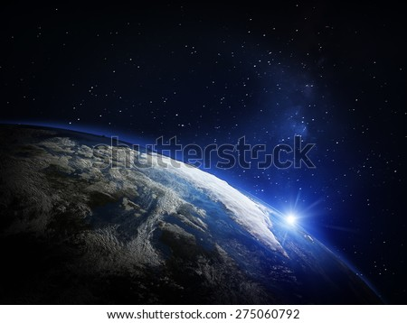Planet Earth from space. Elements of this image furnished by NASA #275060792
