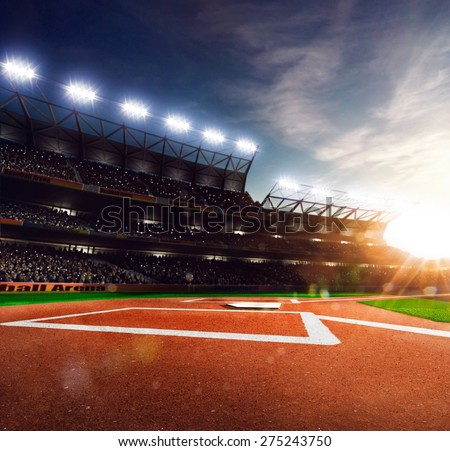 Professional baseball grand arena in the sunlight #275243750