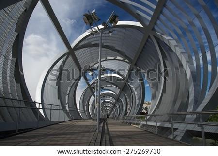 metal bridge Madrid #275269730