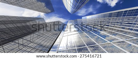 Office Building, Skyscraper against the sky, the business quarter #275416721
