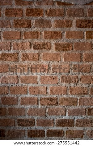 bricks used in the construction, retro style #275551442
