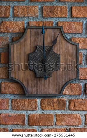wood clock on wall #275551445
