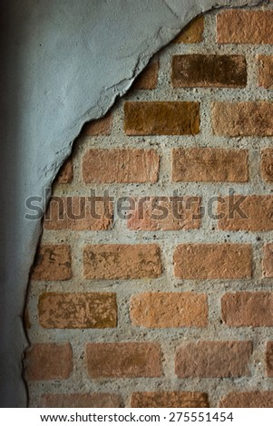 bricks used in the construction, retro style #275551454