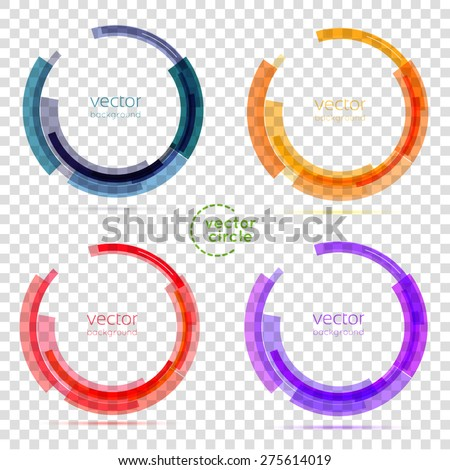 Circle set. Vector illustration. Business Abstract Circle icon. Corporate, Media, Technology styles vector logo design template. transparent Royalty-Free Stock Photo #275614019