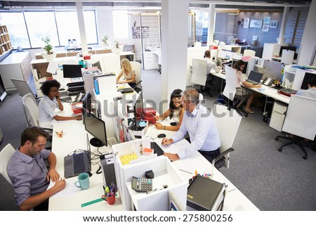 People working in a busy office #275800256