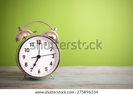 Retro alarm clock with retro colored #275896334