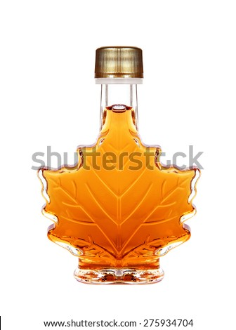 Maple Syrup Bottle Isolated On A White Background Royalty-Free Stock Photo #275934704