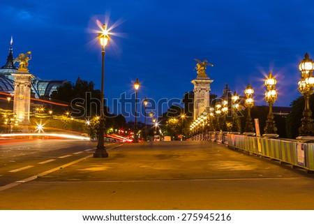Alexandre III bridge in Paris #275945216