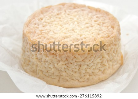 L'Affine du Chablis cheese, a French cow cheese that is bathed in Chablis wine #276115892