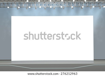 Blank trade show booth for designers #276212963