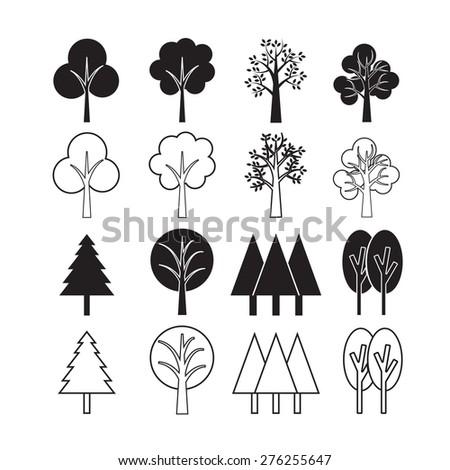 Trees vector,icon set #276255647