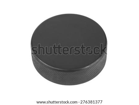 Ice hockey puck isolated on white background #276381377