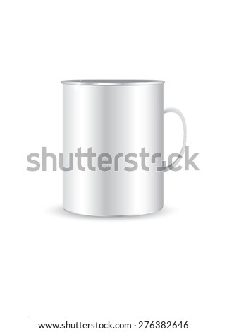 Steel mug isolated on white #276382646