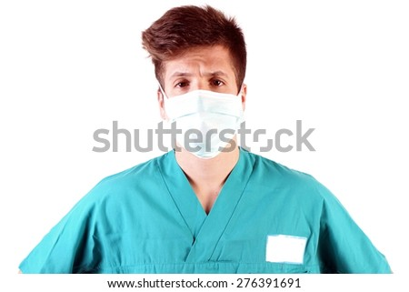 Studio shot of a young man with medical clothes #276391691