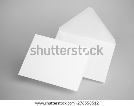 White envelope letters. 3d rendering Royalty-Free Stock Photo #276558512