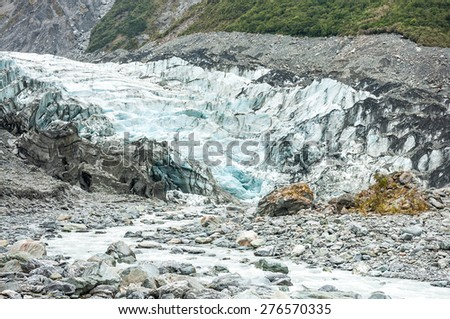 Fox Glacier in Westland National Park on the West Coast of New Zealand's South Island