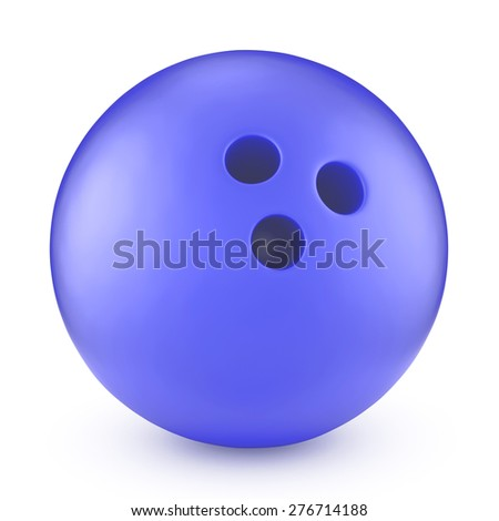 Blue bowling ball isolated on white #276714188