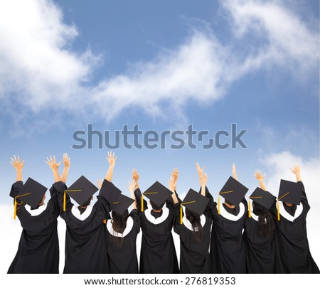 rear view Of  Students Celebrating Graduation #276819353