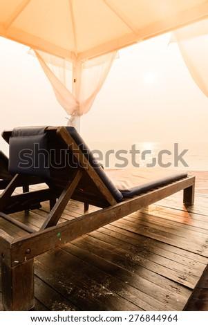 Bed beach - vintage filter effect #276844964