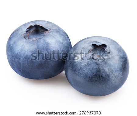 blueberries isolated #276937070