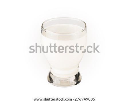 Glass of milk isolated on white background #276949085