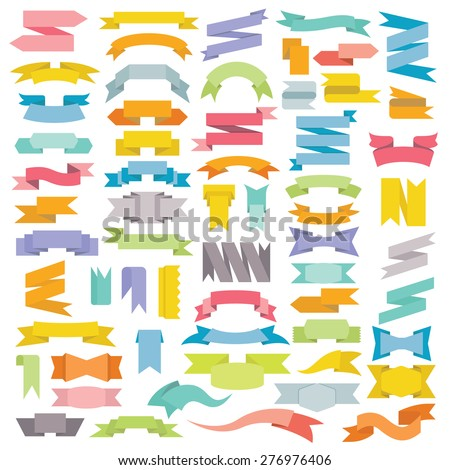 ribbons, big set of design elements banners ribbons, labels #276976406