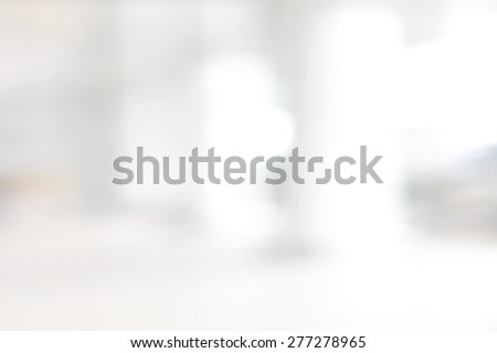 White blur abstract background from building hallway (corridor)