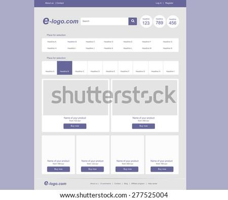 website fashion blue color template #277525004