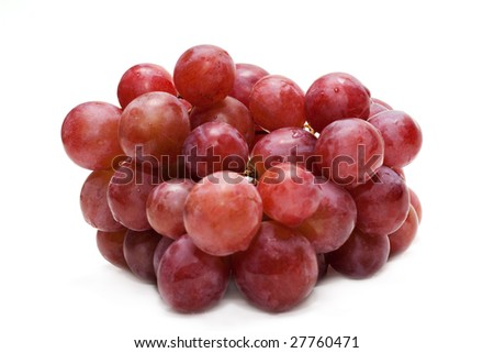 Berries of grape, small circle in dewdrop, insulated on white background #27760471