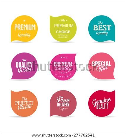 Modern design labels #277702541