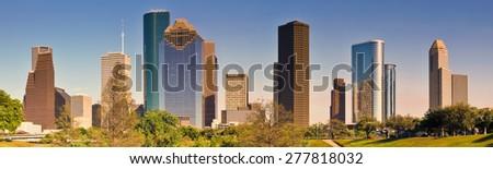 Houston Skyline, Panoramic