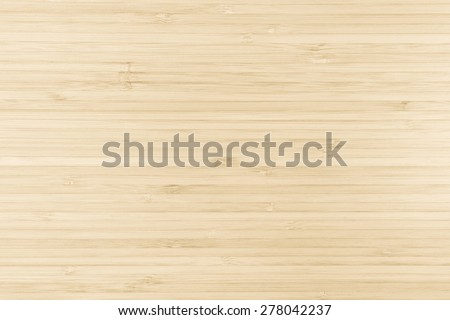 Bamboo wood board texture background in natural light cream color tone  #278042237