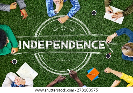 Independence Liberty Peace Self Control Concept