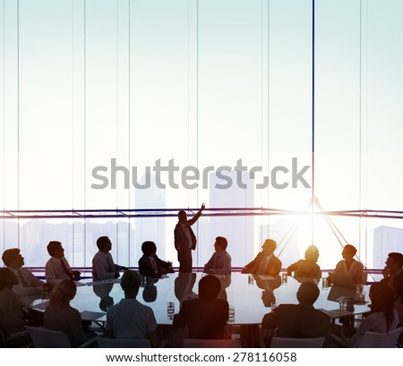 Meeting Room Business Meeting Leadership COncept Royalty-Free Stock Photo #278116058