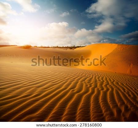 Red dunes near the town of Mui Ne, Vietnam #278160800