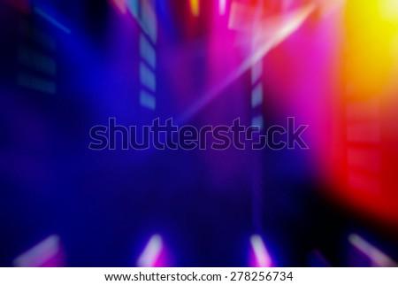 blurred background lighting concert stage