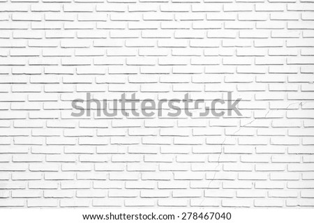 White brick wall texture background #278467040