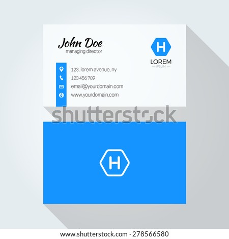 H Letter logo Minimal Corporate Business card Royalty-Free Stock Photo #278566580