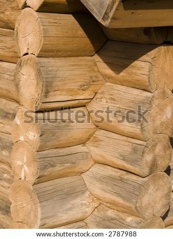 Log cabin corner joints #2787988